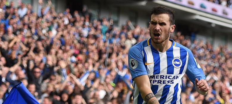 Hemed celebrates a goal for Brighton