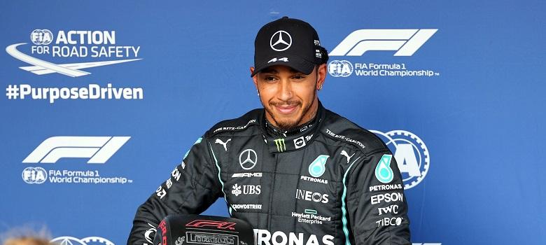 Lewis Hamilton in his Mercedes at the Australian Grand Prix