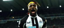 Allan Saint-Maximin celebrates scoring for Newcastle