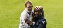 Philadelphia Union coach Jim Curtin celebrates a win