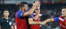 Ricky van Wolfswinkel celebrates scoring for Basel