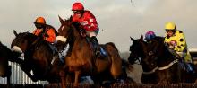 Action from Wincanton Racecourse